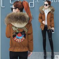 冬季新款韩版宽松百搭加绒加厚棉袄外套潮短款连帽小棉服女