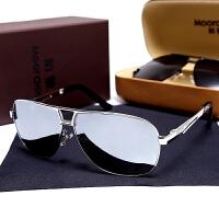 新款太阳镜男士眼镜司机偏光圆脸大框墨镜男潮个性方框开车驾驶镜