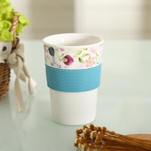 shunxiang 顺祥 陶瓷 10安士胶套健康陶瓷口杯