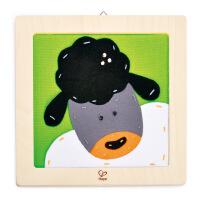 Hape刺绣布贴画-绵羊儿童创意早教布贴画E5104