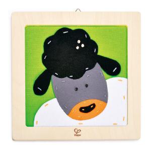 【特惠】HapeDIY刺绣布贴画-绵羊4岁以上儿童创意早教布贴画绘画手工E5104