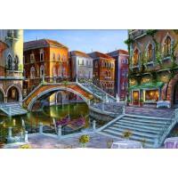 1000片成人木质拼图定制1500世界名画智力玩具 城镇风情