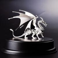 钢魔兽 不锈钢全金属模型 可拆卸拼装 侏罗纪公园恐龙 飞龙 成品