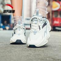 安踏女鞋老爹鞋 2019新鞋春夏季时尚复古运动鞋女休闲鞋12928809