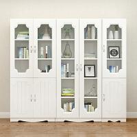 现代简约书柜书架玻璃门书橱自由组合家具收纳柜置物柜资料文件柜 0.6米宽