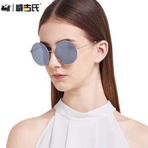 威古氏太阳镜女防紫外线眼镜大框修脸偏光太阳镜炫彩墨镜 3093