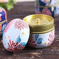 茶叶罐陶瓷家用小号复古小号铁盒茶叶罐 龙井坚果密封罐金属厨房迷你储物罐