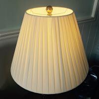 欧式布艺灯罩外壳台灯小灯罩落地大灯罩圆形黄色卧室个性创意简约