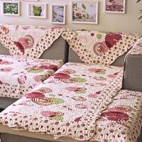 福存家居 沙发垫坐垫全棉绗缝田园布艺加厚防滑沙发套皮沙发巾罩飘窗垫
