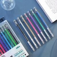 闪光�ㄠ�笔1.0mm中性笔荧光彩色手账笔学生用糖果色记号笔创意贺卡涂色绘画专用