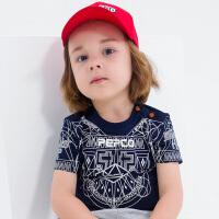 【2件5.5折到手价:38】小猪班纳童装2019年夏季新款男幼童圆领上衣T恤