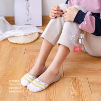 袜子女士纯棉船袜夏季薄低帮浅口隐形袜女硅胶防滑韩版可爱学生袜