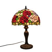【家装节 夏季狂欢】地中海台灯蒂凡尼结婚卧室床头灯浪漫欧式复古玻璃调光咖啡厅