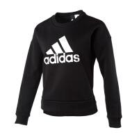 Adidas阿迪达斯 女装 2018新款运动休闲圆领卫衣套头衫CZ2371 CZ2369