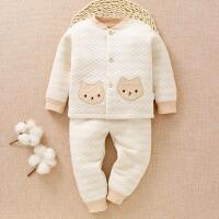 新生儿衣服秋宝宝保暖衣套装加厚内衣加厚婴儿保暖秋衣秋裤