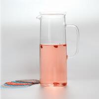 耐热玻璃凉水壶大容量玻璃水壶1.5升带盖子玻璃水壶凉水壶大容量果汁饮料壶鸭嘴壶