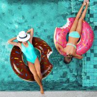 游泳圈成人女士加厚坐骑初学者时尚独角兽火烈鸟儿童水上充气玩具