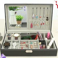 手表收纳盒首饰盒公主欧式简约大容量带锁饰品整理盒创意礼物