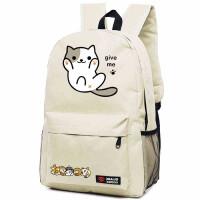 ulzzang猫咪后院动漫周边双肩包男女学生书包二次元可爱背包