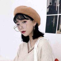 帽子 女士圆顶无檐毛呢帽子2020年冬季新款韩版时尚潮流女士休闲洋气女装贝雷帽