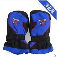 手套 男女儿童滑雪手套 防风保暖手套 滑雪连指男女 儿童手套加厚防雪防水大童保暖手套