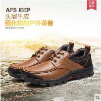 Afs Jeep/战地吉普 工装鞋运动户外鞋真皮休闲皮鞋男士休闲鞋A6020