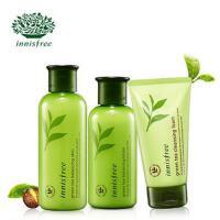 Innisfree/悦诗风吟 绿茶精萃平衡保湿水乳套装+绿茶洗面奶