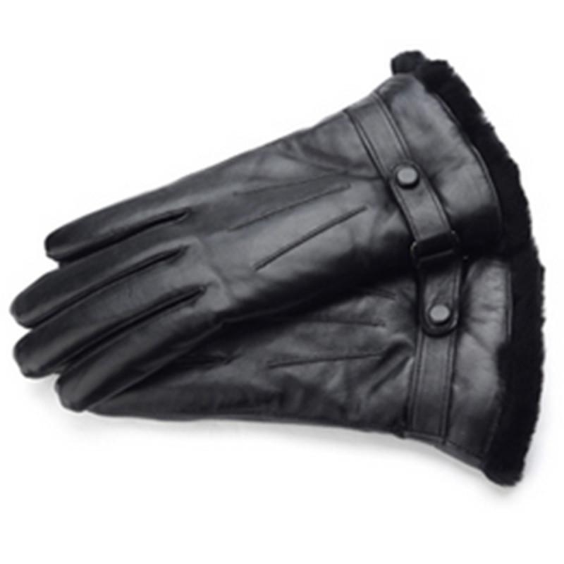 皮毛一体手套 男 女 加厚摩托车骑车手套 保暖 情侣手套 冬  均码