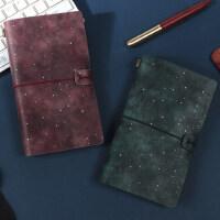 旅行手帐本子复古随身笔记本文具皮日记本活页a6创意记事手账本子