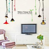创意卧室墙贴纸床头客厅玄关厨房装饰纸浪漫温馨灯泡灯饰贴画