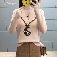 女士毛衣2018女装春装新款韩版圆领套头打底衫长袖时尚百搭外穿潮
