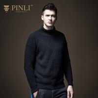PINLI品立 2019春季新款男装高领针织衫韩版套头毛衣潮B183510607