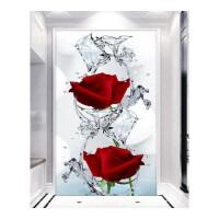 十字绣钻石绣 客厅满钻小幅简约现代玄关走廊玫瑰花卉满钻 炫彩魔方圆钻满钻120*240