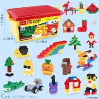 小颗粒积木儿童益智拼装玩具大男女孩子滑道积木创意拼插积木墙桌