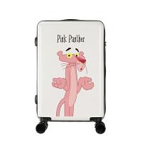 粉红豹拉杆箱卡通动漫行李箱18寸旅行箱16寸万向轮皮箱子26寸男女 白色 摊手粉红豹