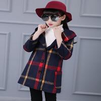 女童毛呢外套童装韩版加棉加厚中大儿童呢子大衣中长款风衣秋装