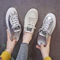 韩版女士百搭小白鞋 街拍平底无后跟半拖鞋女 新款一脚蹬懒人鞋包头单鞋女