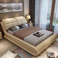 床双人床欧式现代简约结婚软体储物床实木小户型1.8米主卧室 +2柜+天然乳胶床垫