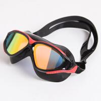 真空镀膜面罩游泳平光眼镜男女装备大框近视泳镜