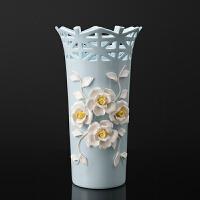 简欧个性花瓶摆件手捏陶瓷插花工艺品现代客厅酒柜装饰品结婚礼物