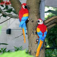 花园景观创意挂件小鸟仿真金刚鹦鹉玻璃钢雕塑庭院动物装饰品摆件