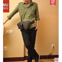 男士斜跨小包小挎包 骑行包 韩版休闲帆布腰包 运动胸包男潮