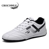 鳄鱼恤运动鞋系带板鞋潮流百搭小白鞋低帮鞋舒适男鞋