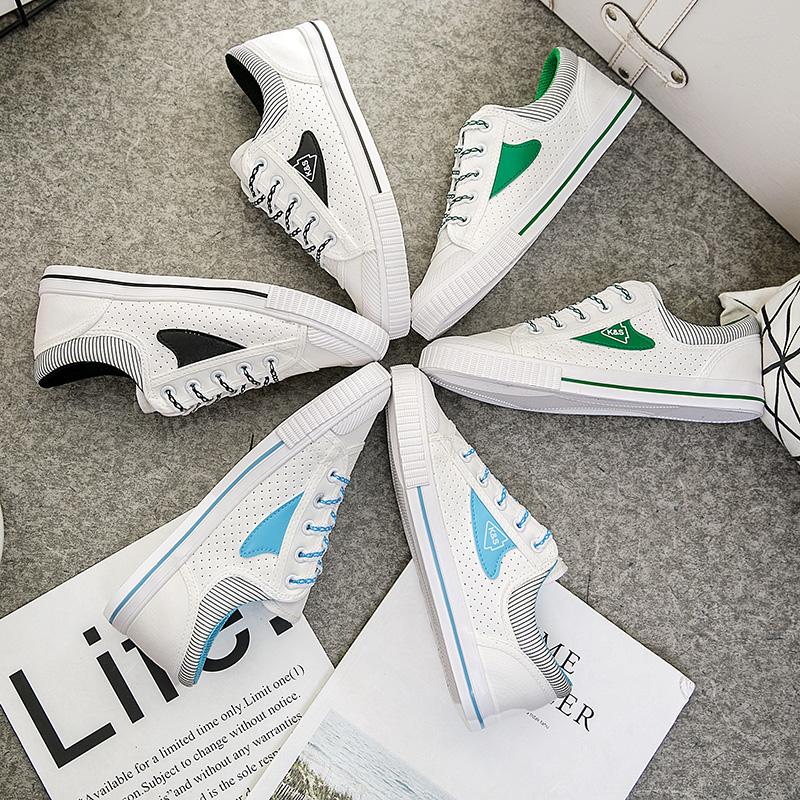 2018秋季新款小白鞋女士帆布鞋平底系带休闲鞋学生球鞋潮鞋女士新款帆布鞋