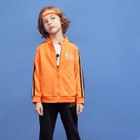 【2件4折:96】巴拉巴拉旗下 巴帝巴帝潮流童装2018秋季新款男童时尚学院运动套装