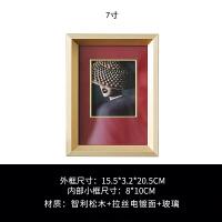 酒店样板间样品房拉丝金相框摆台桌面六6七7寸装饰品个性创意 相框