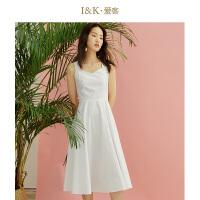 【3折到手价:111元】爱客高腰露背仙女裙2019夏季 白色小众纯棉