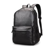 ?男士双肩包休闲旅行背包包韩版学生书包电脑皮包大容量潮流商务包?