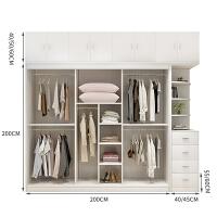 衣柜推拉门定制板式组合实木质大衣柜卧室简约现代移门两门大衣橱