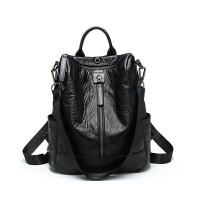 多功能双肩包女2018款韩版时尚百搭软皮背包复女包休闲旅行包